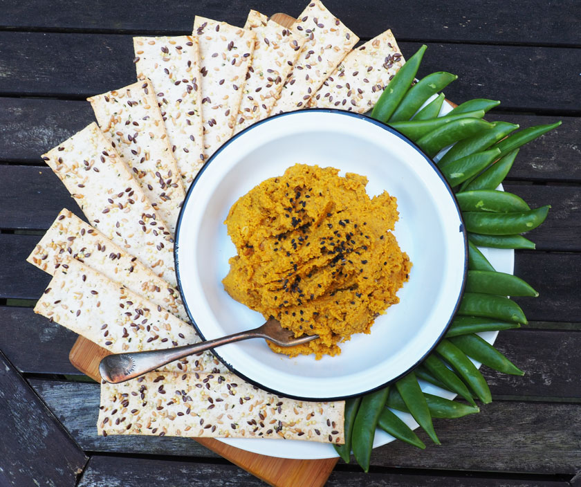 Chickpea-less spiced pumpkin hummus